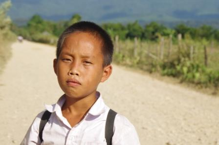 School children in Laos