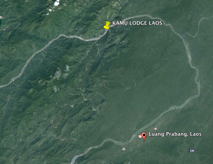 Kamu Lodge Laos Map