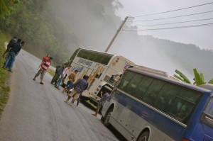 VIP bus travel Laos Vientiane to Luang Prabang
