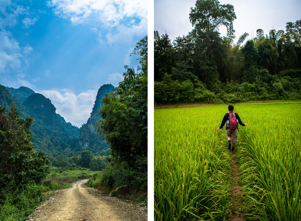 Mountain trek with Tiger Trail in Luang Prabang Laos