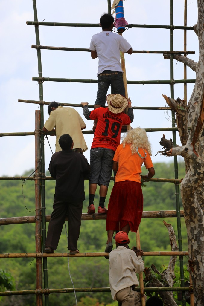 Boun Bang Fai rocket festival in Laos