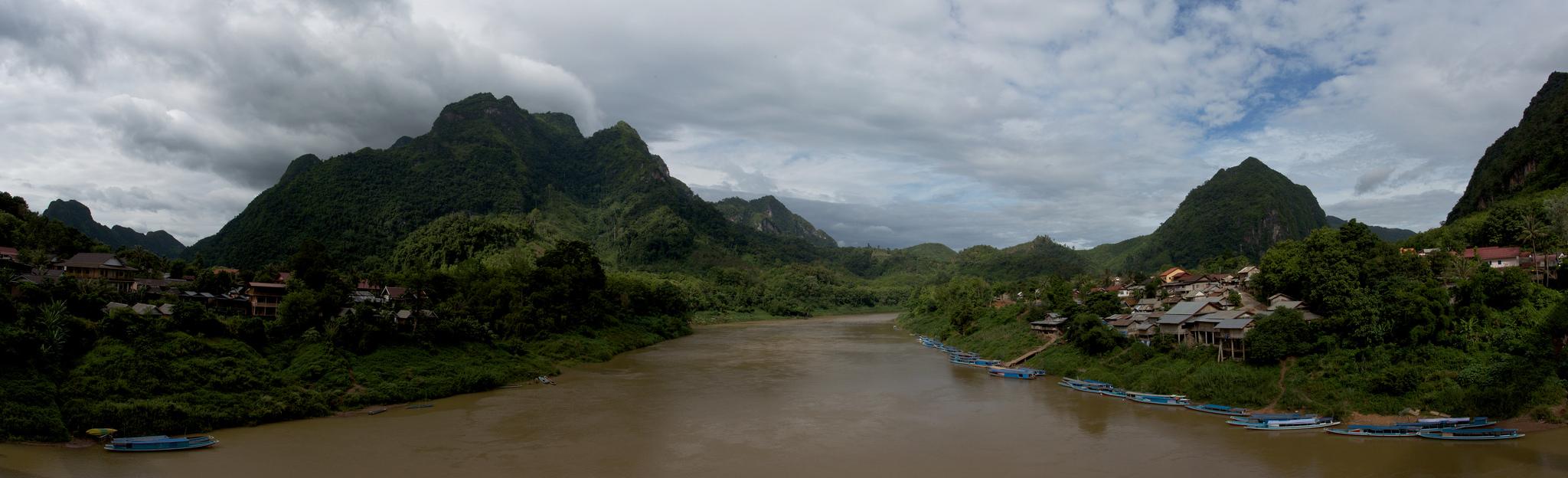 Nong Khiaw Laos panorama