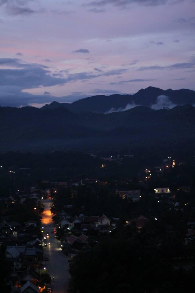 Mt Phousi Sunrise Luang Prabang Laos
