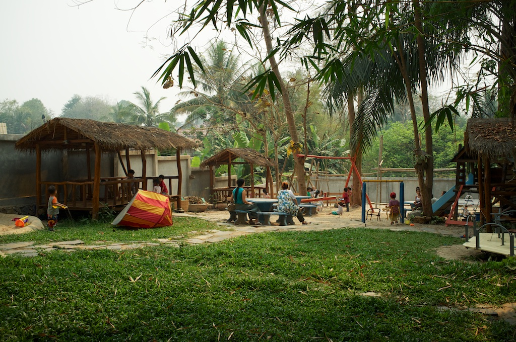 Luang Prabang with Children at Playground Garden
