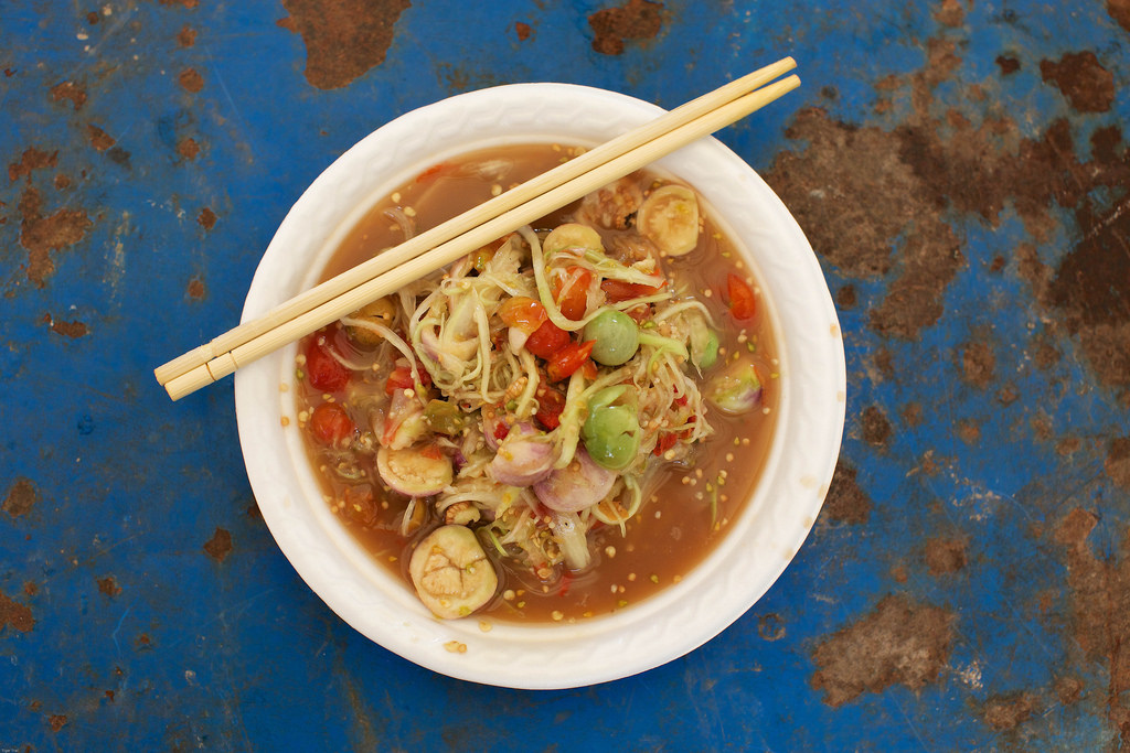 Laos-Luang-Prabang-Lao-Food-Spicy-Papaya-Salad-Tam-Mak-Hoon-Tiger-Trail-Photo-By-Cyril-Eberle