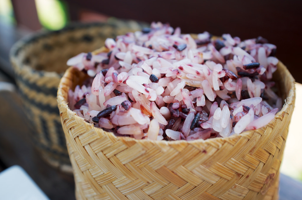 Laos-Luang-Prabang-Laos-Food-Rice-Sticky-Khao-Niaw-Purple-Tiger-Trail-Photo-By-Kyle-Wagner