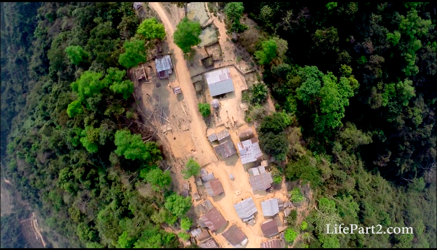 drone, footage, northern, laos, lao pdr, phongsali, ethnic minority, tribe, group, lao, mountains