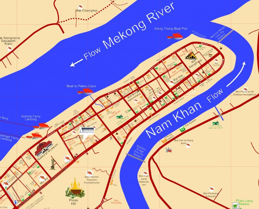 Luang-Prabang-Artisans-Cafe-Location-Map