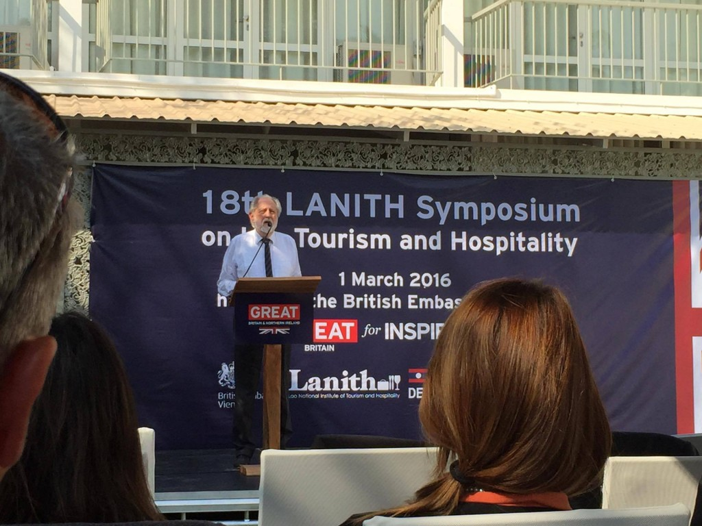 LANITH Vientiane Symposium on Tourism Lord Puttnam