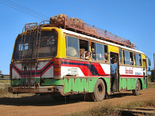 Laos Bus Travel Tour