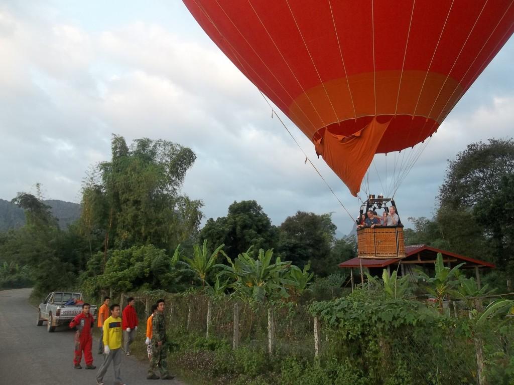Balloon tour over Laos, Vang Vieng