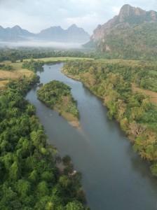 Balloon over Vang Vieng, Laos