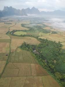 Balloon in Laos, Vang Vieng