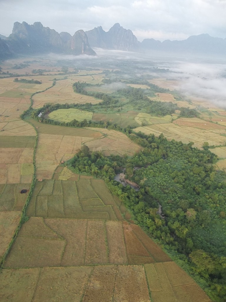 Balloon in Laos, Vang Vieng