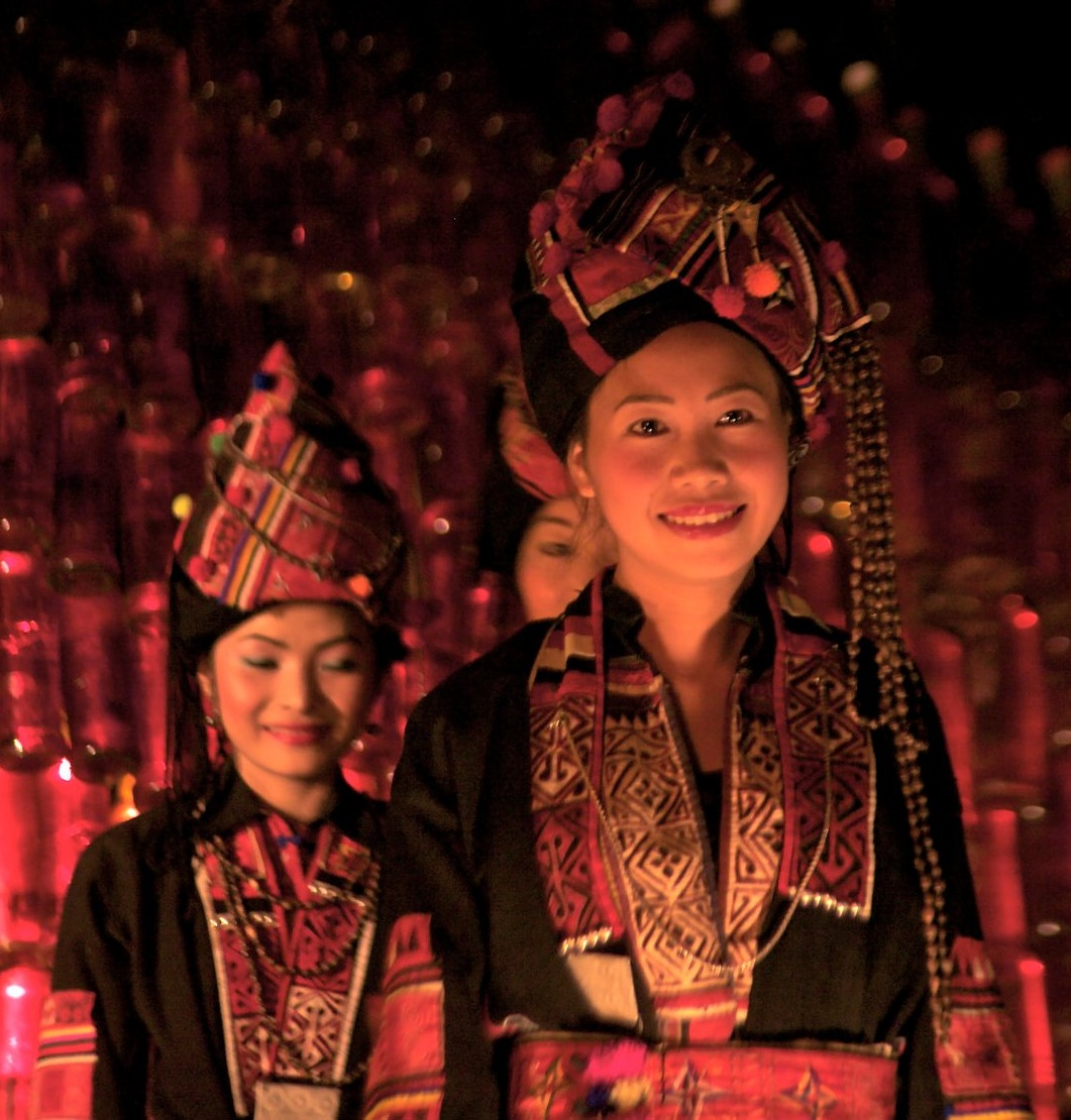 Local Ethnik fashion show at Hive bar and Smokehouse in Luang Prabang, Laos