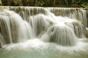 Laos, Kuang Si waterfall
