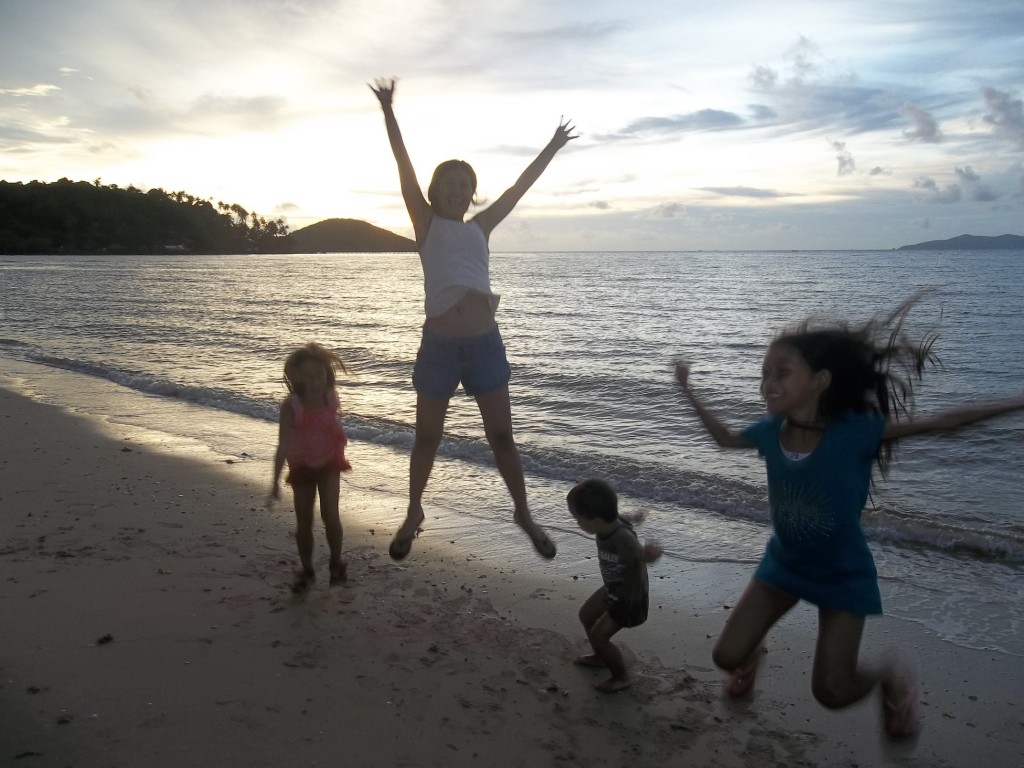 Family travel Laos
