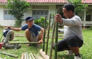 bamboo jungle gym