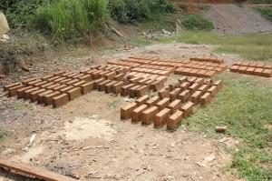 Eco Bungalow Project Luang Prabang - Clay Bricks Drying