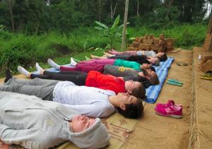 Eco Bungalow Project Luang Prabang - Yoga outside Bungalow