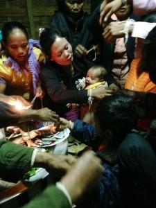 Local Laos Baci Ceremony