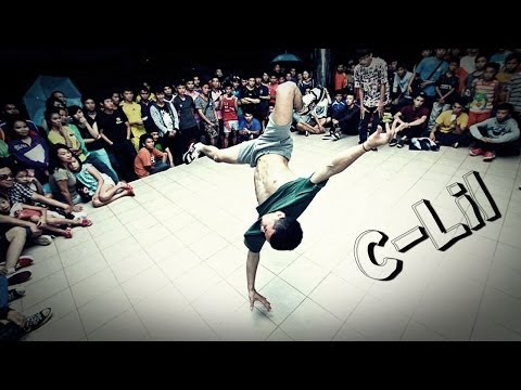 C-Lil B-boy breakdancing in Laos
