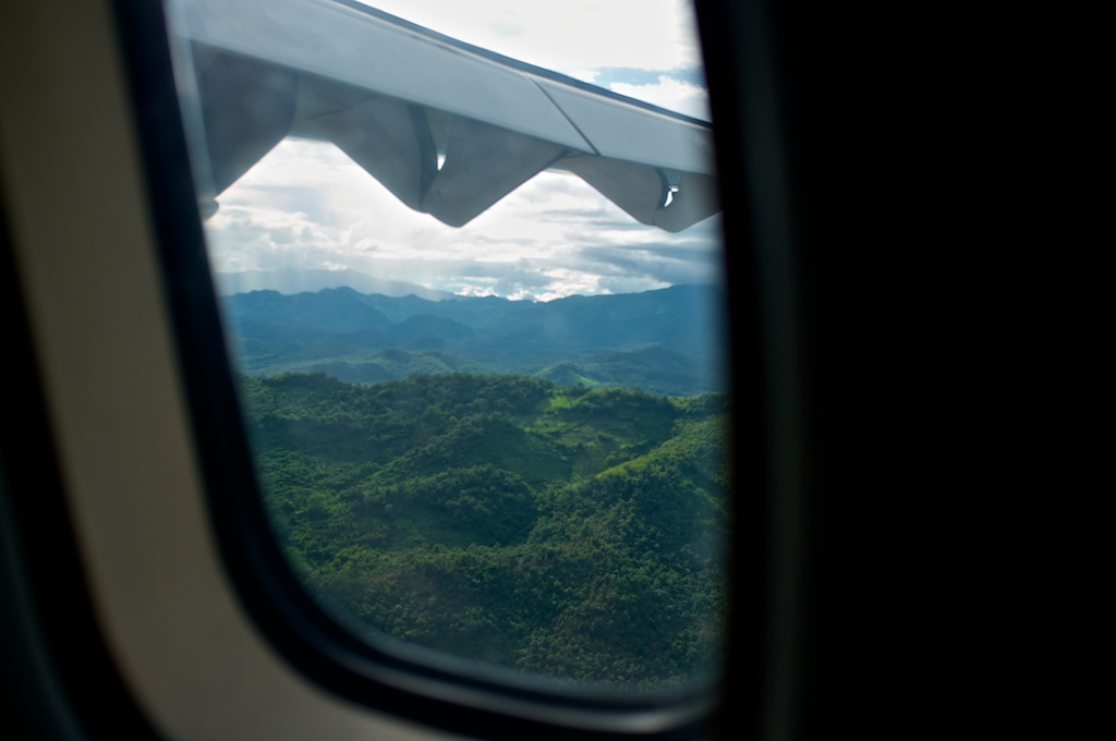 Beautiful Lao Landscape from Airplane
