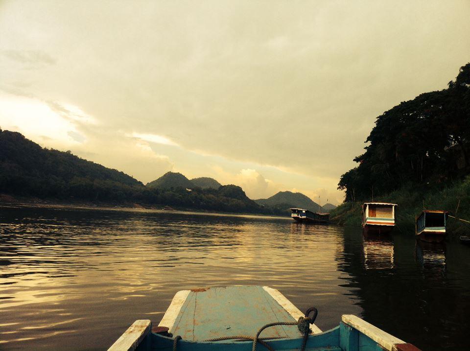 Luang Prabang Laos Mekong River boat