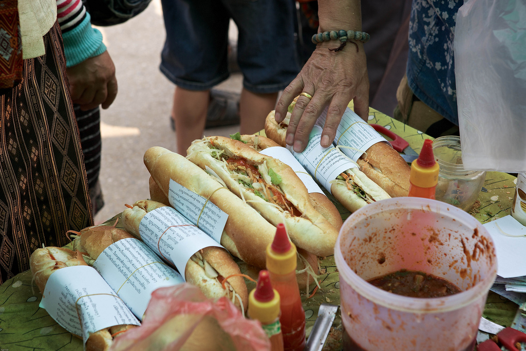 Laos-Luang-Prabang-Lao-Food-Lao-Baguette-Khao-Ji-Pate-Photo-By-Cyril-Eberle