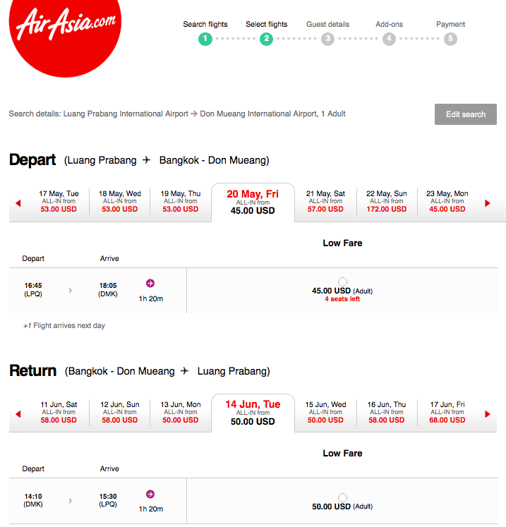 Air Asia Flights to Laos