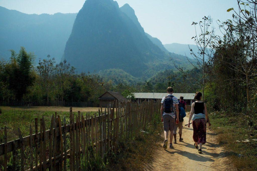 Trekking into Ban Houy Fai