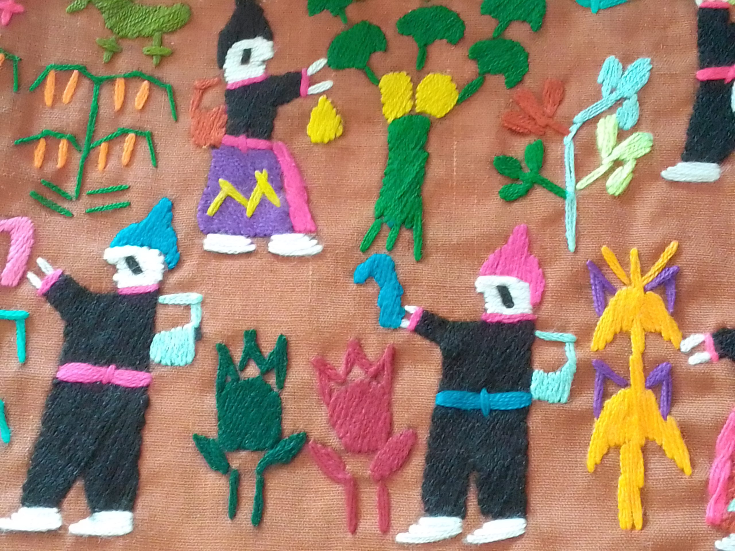 Story cloth style hand embroidery, Luang Prabang Deaf & Mute Community Training Centre