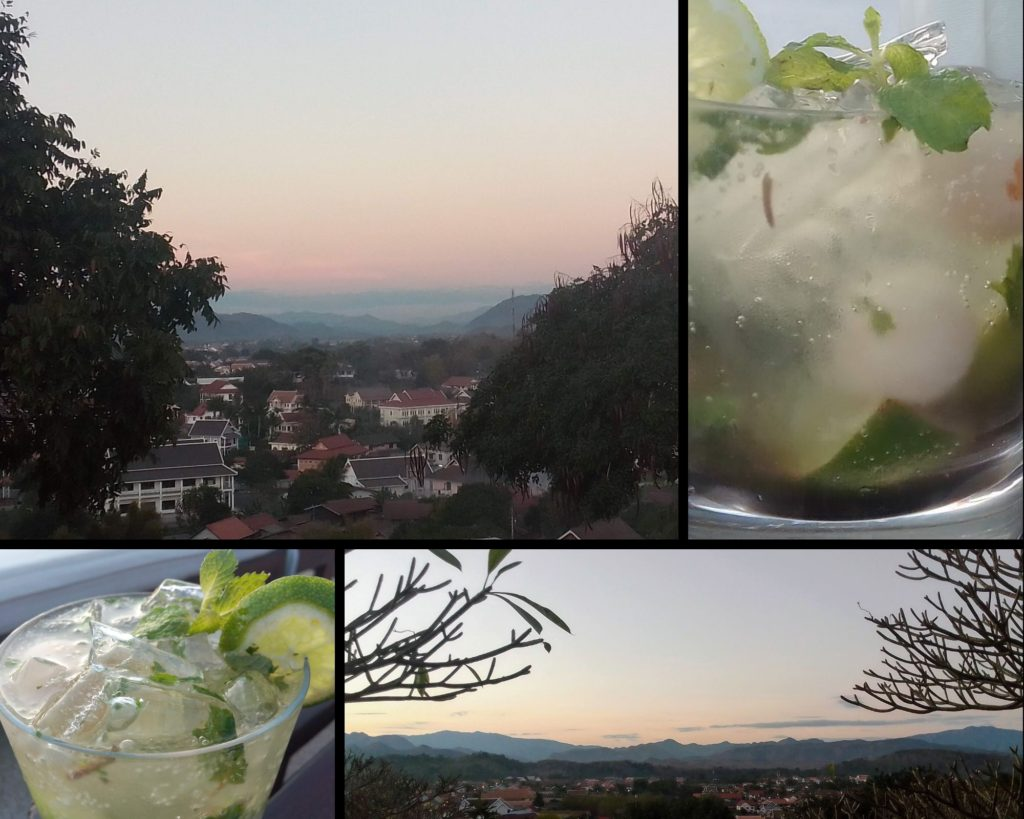 Sunset at the Luang Prabang View Hotel's Skyy Lounge & Bar is breathtaking in every direction. We suggest a Lychee Mojito to make the moment even more memorable.