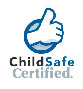 ChildSafe Certified logo, found on Tiger Trail's website and the websites of all ChildSafe Certified businesses